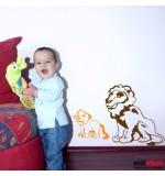 Sticker leu cu puiut WCA613
