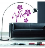 autocolant de perete creanga cu flori