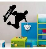 Sticker nume copil skater WCNC13