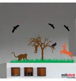 Sticker maimute in jungla WCAV36