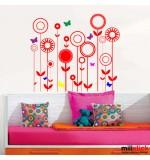 Sticker fluturasi cu flori WCAV17
