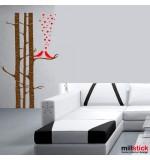 sticker de perete creanga cu pasarele