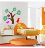 Sticker copac cu pasarele WCA820