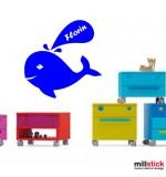 Sticker nume copil balena WCNC19