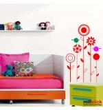 Sticker floricele cu pasari WCAV23