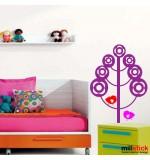 Sticker copac cu pasari WCA827