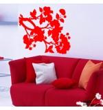 stickere decorative de perete creanga cu flori