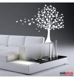 sticker decorativ copac cu fluturi