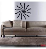 autocolant decorativ stea de cercuri