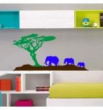 Sticker elefanti in jungla WCAV53