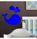 wallstickers decorativ balena funny