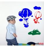Sticker animalute in balon WCA913