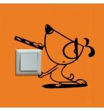 Sticker intrerupator catelus WLI002