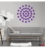 Wall sticker decorativ cercuri in cerc