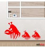 autocolant crabi