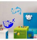 Sticker delfini WCA505