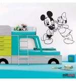 Sticker Mickey Mouse and Donald Duck WCWD20