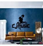 autocolant de perete dj music