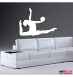 autocolant de perete gimnasta
