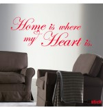 Sticker home heart WLT129