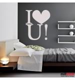 Sticker i love you WLT201