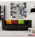 Sticker in aceasta casa cu poze WLT141
