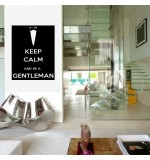 Sticker keep calm and be a gentleman WLKC12