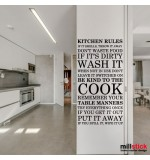 Sticker bucatarie Kitchen rules WLT239