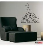 wallsticker decorativ love sweet love