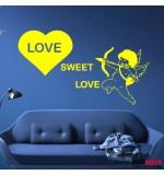 autocolant de perete love sweet love