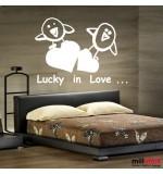 autocolant decorativ lucky in love