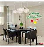 autocolant decorativ merry christmas