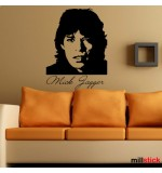 autocolant de perete Mick Jagger