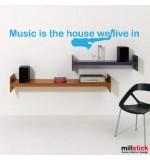 autocolant decorativ music is...