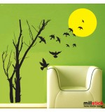 Sticker sunset tree WLP104