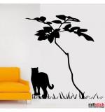 Sticker pisica sub copac WLP109