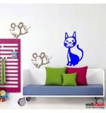 Sticker pisica si soricei WCA516
