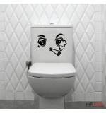 Sticker wc smoker WBF041