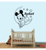 Sticker nume copil Mickey Mouse WCNC32