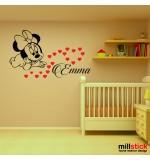 Sticker nume pentru copii Minnie WCNC31