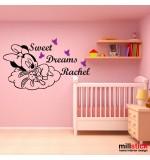 Sticker nume copil Minnie WCNC33