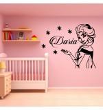 Sticker nume pentru copil Elsa WCNC51