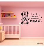 Sticker nume copil Minnie Mouse WCNC53