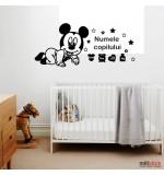 Sticker nume pentru copii Mickey Mouse WCNC52
