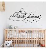Sticker nume pentru copii Donald Duck WCNC37
