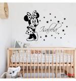 Sticker nume pentru copil Minnie Mouse WCNC36