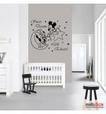 Sticker nume pentru copil Mickey si Minnie Mouse WCNC38