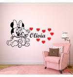 Sticker nume copil Minnie Mouse WCNC35