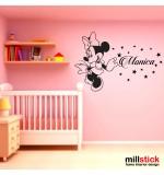 Sticker nume pentru copii Minnie WCNC28
