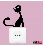 Sticker priza pisica WLI030